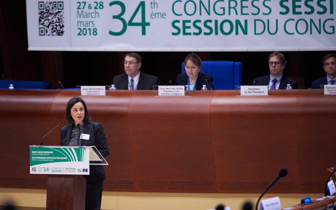 """Regional identity is not incompatible with the nation-State"", said Ana Luís at the Chamber of Regions of the Congress of Local and Regional Authorities of the Council of Europe"