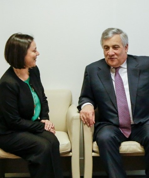Ana Luís meets with the President of the European Parliament