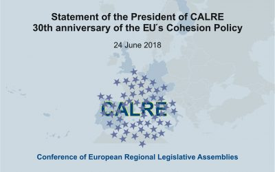 Statement of the President of CALRE on the occasion of the 30th anniversary of the EU's Cohesion Policy