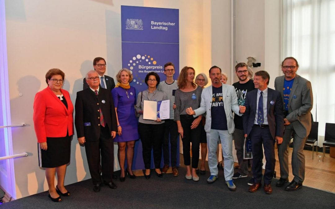 "President Barbara Stamm awards the initiative ""Pulse of Europe"", Bavaria"