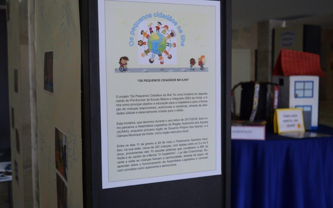 "Project ""Small Citizens on the Island"" displayed at the Azorean Parliament"
