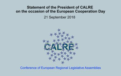 Statement of the President of CALRE on the occasion of the European Cooperation Day
