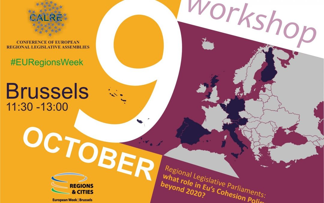 CALRE takes part in the European Week of Regions and Cities