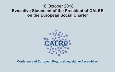 Evocative Statement of the President of CALRE on the European Social Charter