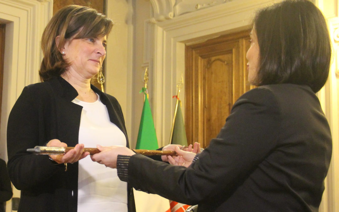 The president of the Legislative Assembly of Umbria, Donatella Porzi, takes over the Calre Presidency 2019