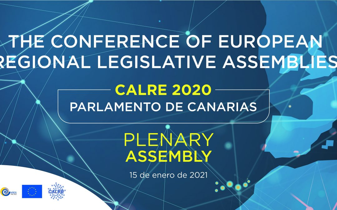 CALRE celebrates the first plenary assembly of the mandate chaired by Matos